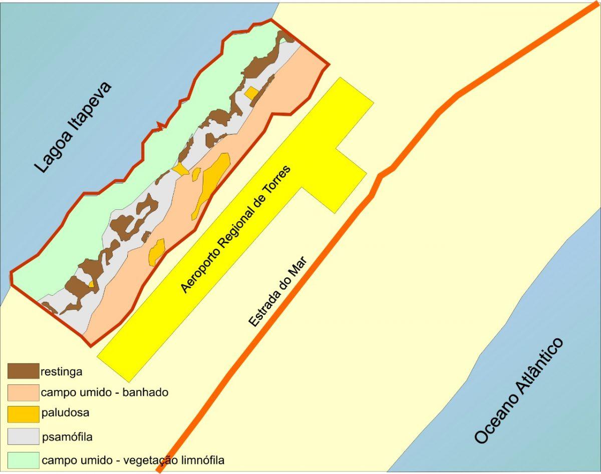 mapa da A.P.A. da Lagoa da Itapeva