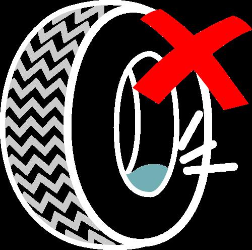 pneu com água