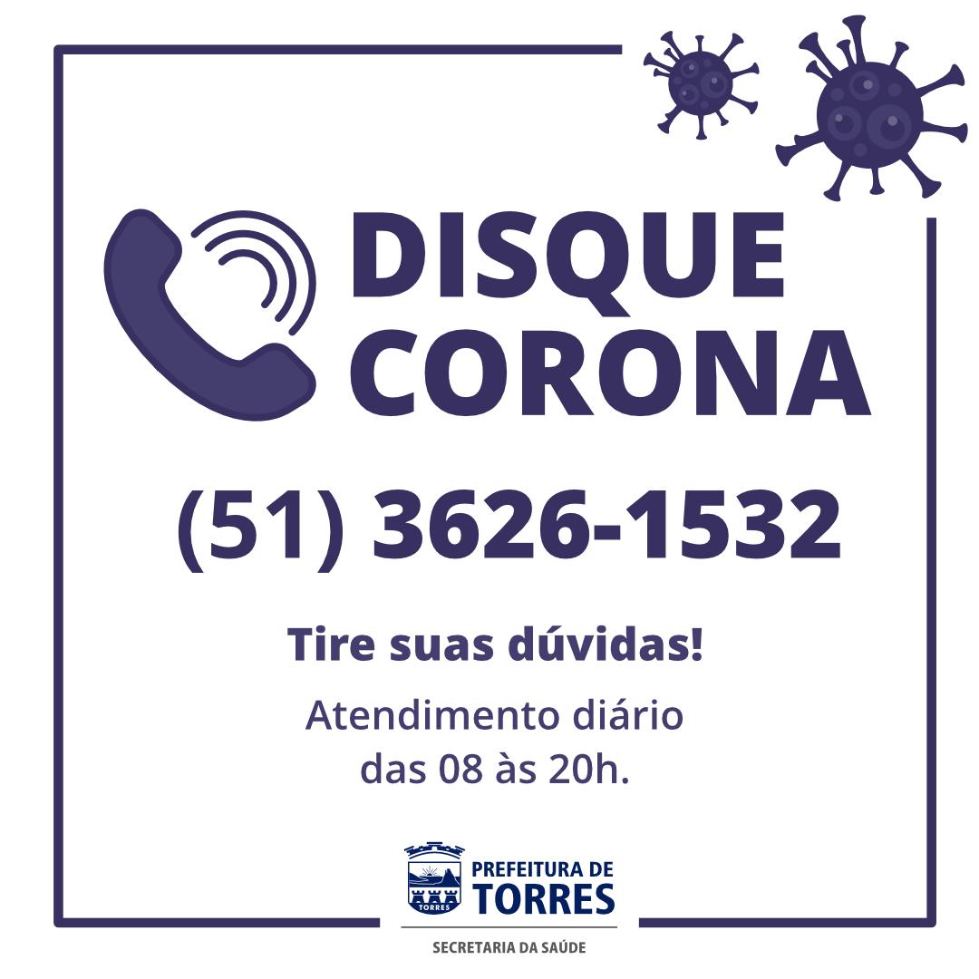 Prefeitura Cria Disque Corona Para Casos Suspeitos De Coronavirus Prefeitura De Torres Rs Site Oficial